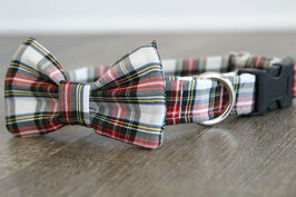 Country Plaid Collar + Bow Tie Set