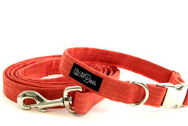 Siena Bow Tie + Chrome Collar + Leash Set
