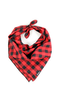 The Lumberjack Red & Black Knotted Bandana