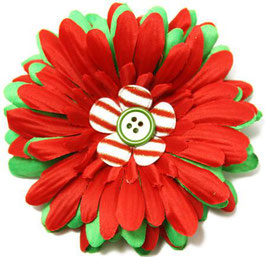 Mrs. Claus Large Daisy Flower