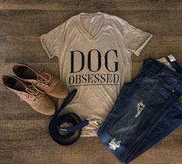Dog Obsessed Stone Marble Tee