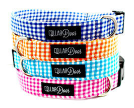 Gingham Style Orange Collar