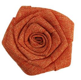 Orange Burlap Flower