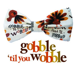 Gobble 'Til You Wobble Bow Tie