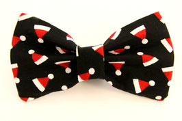 Kris Kringle Black Bow Tie