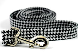 Hound's Tooth Black & White Leash