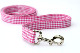 Pink Gingham Style Leash WHOLESALE