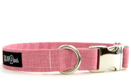Bubblegum Pink Chrome Collar & Leash Set