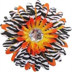Z is for Zebra White & Orange Flower