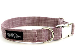 Wine Chrome Collar & Leash Set