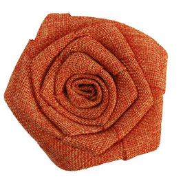 Orange Burlap Flower