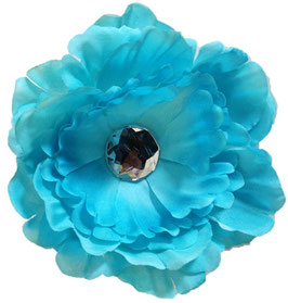 Teal Pretty Peony Small