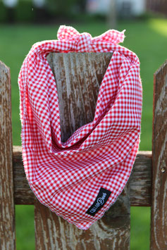 Red Gingham Style Traditional Knotted Bandana-WHOLESALE