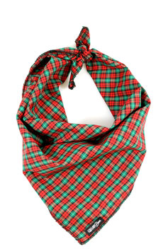 Christmas Plaid Traditional Knotted Bandana