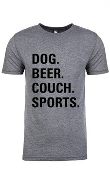 Dog Beer Couch Sports Heather Grey Triblend Unisex T-Shirt