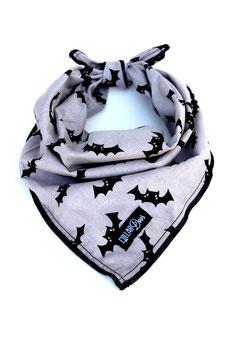 Batty Grey Halloween Knotted Bandana