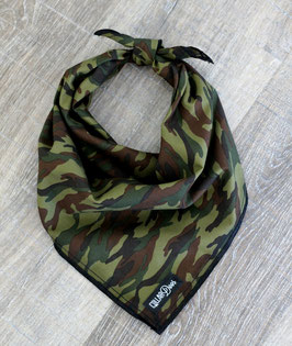 Classic Camo Green Traditional Knotted Bandana