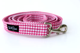 Pink Gingham Style Leash