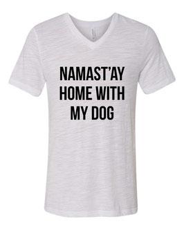 Namast'ay White T-shirt V-neck