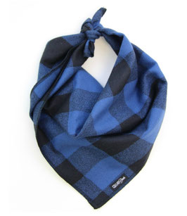 Buffalo Bold Blue & Navy Traditional Knotted Bandana-WHOLESALE