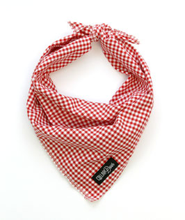 Red Gingham Style Traditional Knotted Bandana