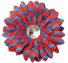 Zoey Red & Blue Large Flower