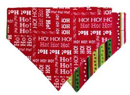 Ho Ho Ho & Christmas Print Reversible Pocket Bandana