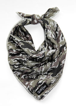 Classic Camo Grey Traditional Knotted Bandana