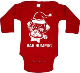Bah Hump Pug Red Long Sleeve Onesie
