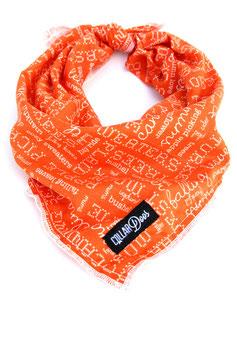 Autumn Orange Knotted Bandana