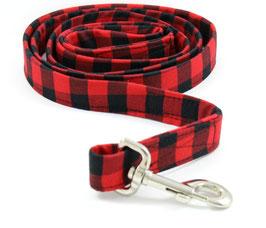 The Lumberjack Red & Black Plaid Leash