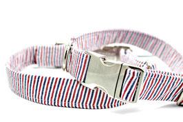 Seersucker Red, White & Blue Collar