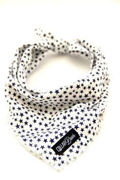 Pawtriotic White Knotted Bandana