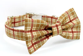 Pawsome Plaid Fall Collar & Bow Tie