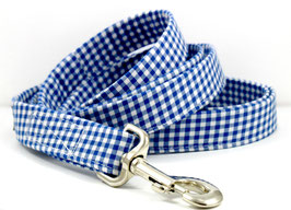 Gingham Style Navy Leash