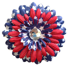 Pawtriotic Blue with Red Accent Large Flower