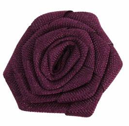 Burlap Rosette Flower