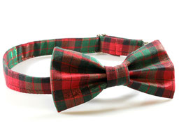 Pawsome Plaid Metallic Chrome Christmas Collar