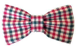 Gingham Style Classic Christmas Bow Tie