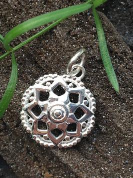 Anhänger, Mandala klein, 925 Sterlingsilber AHS 038