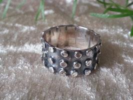 Ring (geschwärzt) aus 925 Sterling Silber, R 012