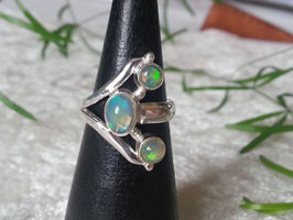 Äthiopischer Welo Opal Ring, gefasst in 925 Sterlingsilber, R 007