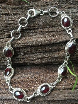 Granat Armband, gefasst in 925 Sterling Silber, AB 027