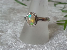 Äthiopischer Welo Opal Ring, gefasst in 925 Sterlingsilber, R 002