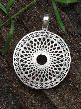 Anhänger Medallion, Mandala, 925 Silber AHS 043