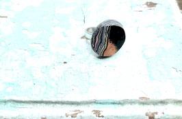 Ring schwarz/orange Schichten rund