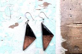 Ohrringe dreieckig orange/schwarz