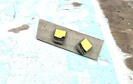 Ohrstecker viereckig gelb