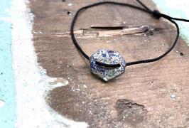 Armband blau/weiß Marmor