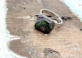 Ring viereckig grün Auge